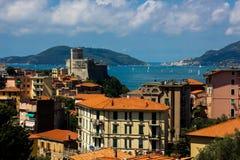 Italyan sea. Italian sea in summer day stock photography