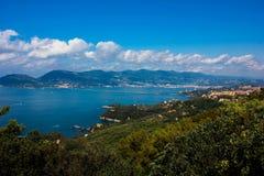 Italyan sea. Italian sea in summer day royalty free stock image