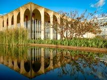 Itamaraty pałac w Brasilia, kapitał Brazylia zdjęcia royalty free