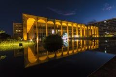 Itamaraty slott - BrasÃlia - DF - Brasilien royaltyfria bilder