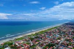 Itanhaém, São Paulo, Brazil: View of beautiful beach. royalty free stock photo