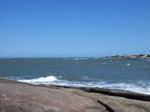 Itapoa,圣卡塔琳娜州,巴西海滩  图库摄影