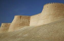 Itchan Kala walls - Old Town of Khiva, Uzbekistan Stock Images
