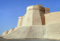 Itchan Kala walls - Old Town of Khiva, Uzbekistan Royalty Free Stock Photography