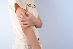 Itching In A girl. Royalty Free Stock Images