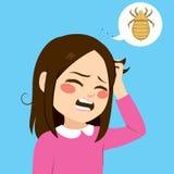Itchy κορίτσι τρίχας απεικόνιση αποθεμάτων