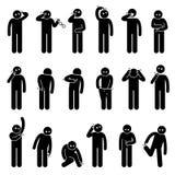 Itchy μέρη Clipart σώματος ατόμων γρατσουνίζοντας απεικόνιση αποθεμάτων
