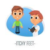Itchy πόδια ιατρικής έννοιας επίσης corel σύρετε το διάνυσμα απεικόνισης ελεύθερη απεικόνιση δικαιώματος