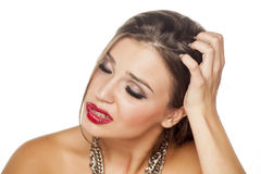Itchy scalp Stock Photos