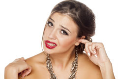 Itchy ucho obrazy stock