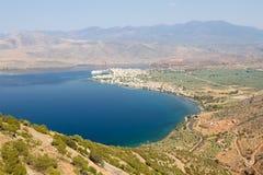 Itea海湾,希腊 库存图片