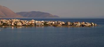 Itea, Greece. The port town of Itea, near the ancient site of Delphi, Fokida area, Greece stock photos