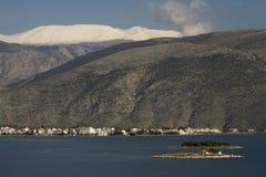Itea and Parnassos Mountain, Greece Royalty Free Stock Photos