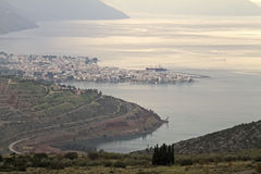 Itea-Stadt von oben Lizenzfreie Stockbilder