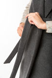 The item of clothing. Detail of coat patterns Royalty Free Stock Photography