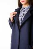 The item of clothing. Detail of coat patterns Royalty Free Stock Photos