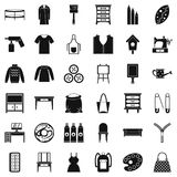 Item of clothing icons set, simple style. Item of clothing icons set. Simple set of 36 item of clothing vector icons for web isolated on white background Stock Photography