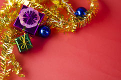 Item decorate for christmas tree Stock Images