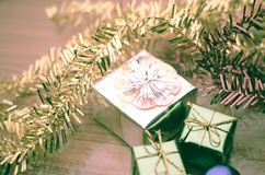 Item decorate for christmas tree Royalty Free Stock Images