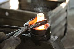The item is manufactured in the forge. Stock Photography