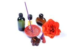 Items aromáticos del perfume foto de archivo libre de regalías