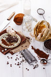 Items for baking with chocolate Stock Image