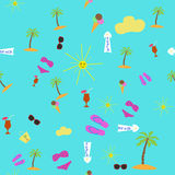 Items with a beach holiday Royalty Free Stock Images