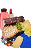 Items for body care, spa and sauna Stock Photos