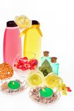 Items for body care, spa and sauna royalty free stock photos
