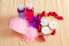 Items for body care treatments Royalty Free Stock Photo