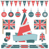 Items británicos de la Navidad Imagenes de archivo