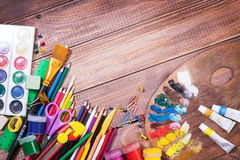 Items for children's creativity Royalty Free Stock Images