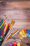 Items for children's creativity Stock Image