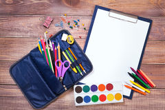 Items for children's creativity. Background Royalty Free Stock Photos
