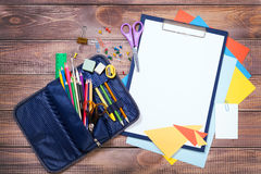 Items for children's creativity. Background Royalty Free Stock Images