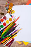 Items for children's creativity Royalty Free Stock Photo