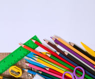 Items for children's creativity. Background Royalty Free Stock Photography