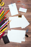 Items for children's creativity. Background Stock Images