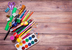 Items for children's creativity. Background Stock Photos