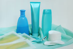Items for cleanliness and hair-removing Stock Photo