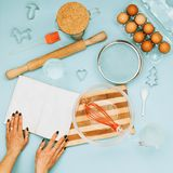 Items for cooking cookies stock image