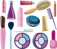 Items cosméticos Imágenes de archivo libres de regalías