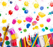 Items for creativity and blots Royalty Free Stock Photos