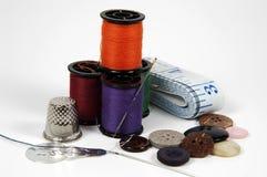 Items de costura imagen de archivo