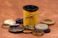 Items de costura fotografía de archivo libre de regalías