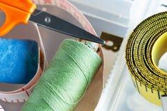 Items de costura del rectángulo imagen de archivo libre de regalías