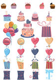 Items de la celebración Ilustración del Vector