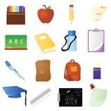 Items de la escuela Foto de archivo