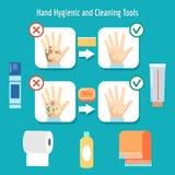 Items de la higiene personal Fotografía de archivo libre de regalías