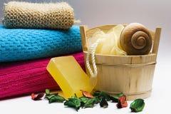 Items de la higiene personal Foto de archivo libre de regalías